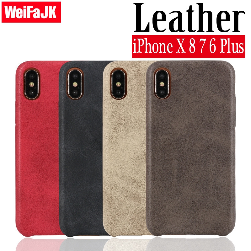Galleria fotografica Leather Phone Case for iPhone X Cases Luxury Shockproof Soft Microfiber Cloth Lining Cushion Cover for iPhone 6 6s 7 8 Plus Case