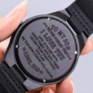 Image 3 - BOBO BIRD montres bracelet à gravure, pour hommes, cadeaux de famille pour fils papa maman, hommes et femmes, avec un logo gravé pour petit ami, D26