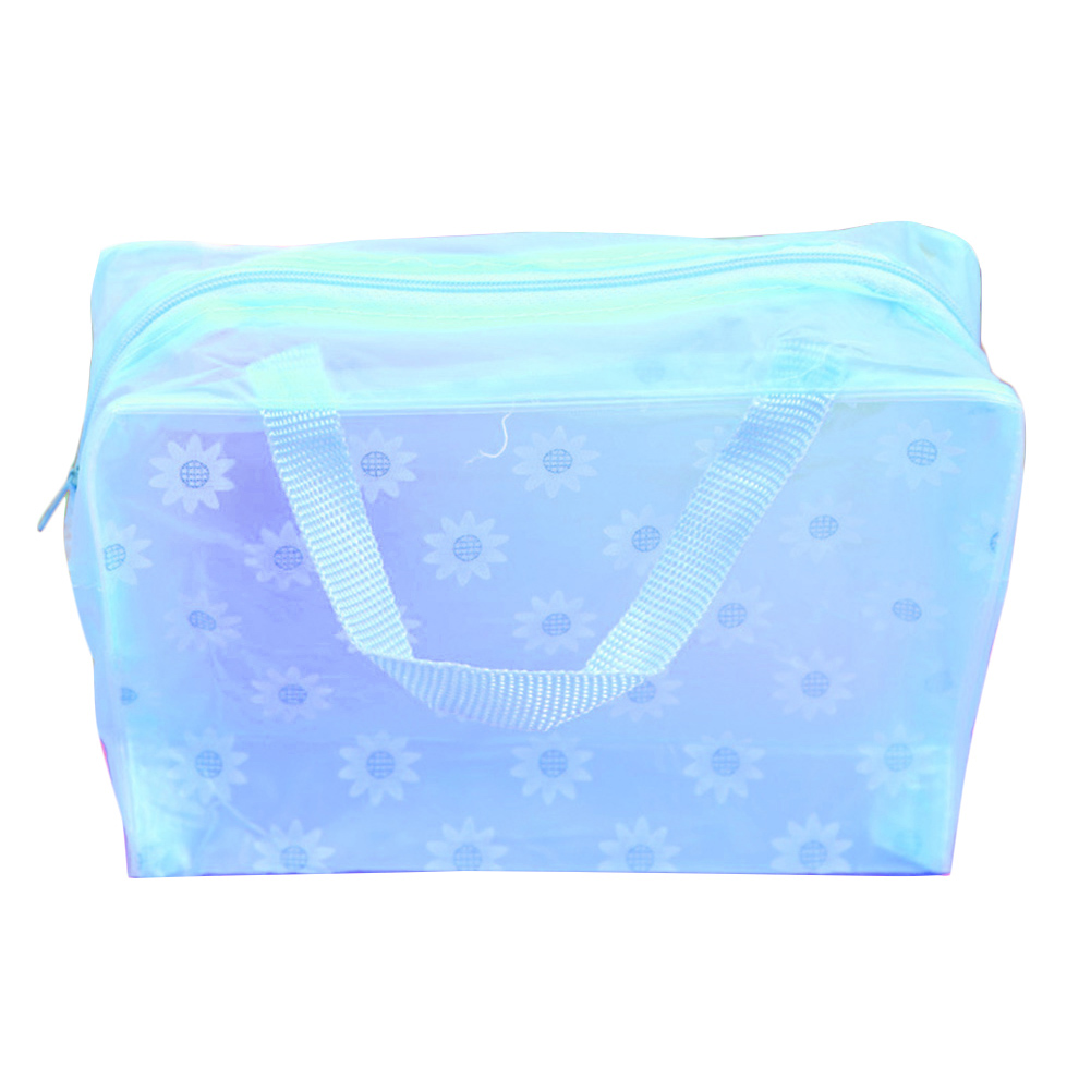 Fashion Baby Supplies Toiletry Pouch Swimming Storage Bathing Pouch Waterproof Transparent Makeup Floral Print Storage Bag