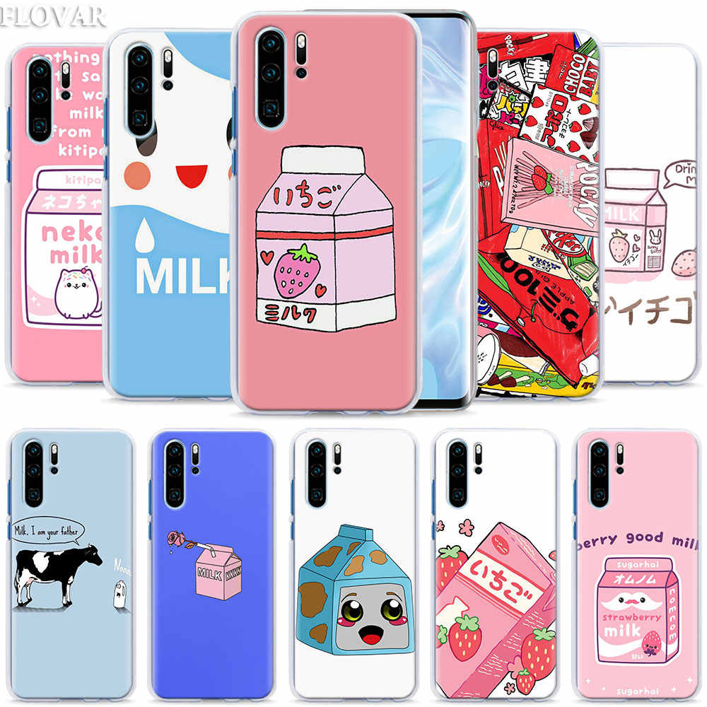 Strawberry Milk Box Phone Case coque for Huawei P30 Pro P10 P20 P30 Lite P8 P9 Lite P Smart Plus case