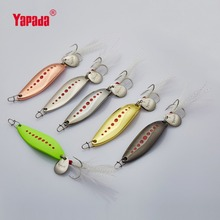 YAPADA Spoon 012 New Leech10g/55mm 15g/55mm 20g/57mm Multicolor Metal Fishing Lures