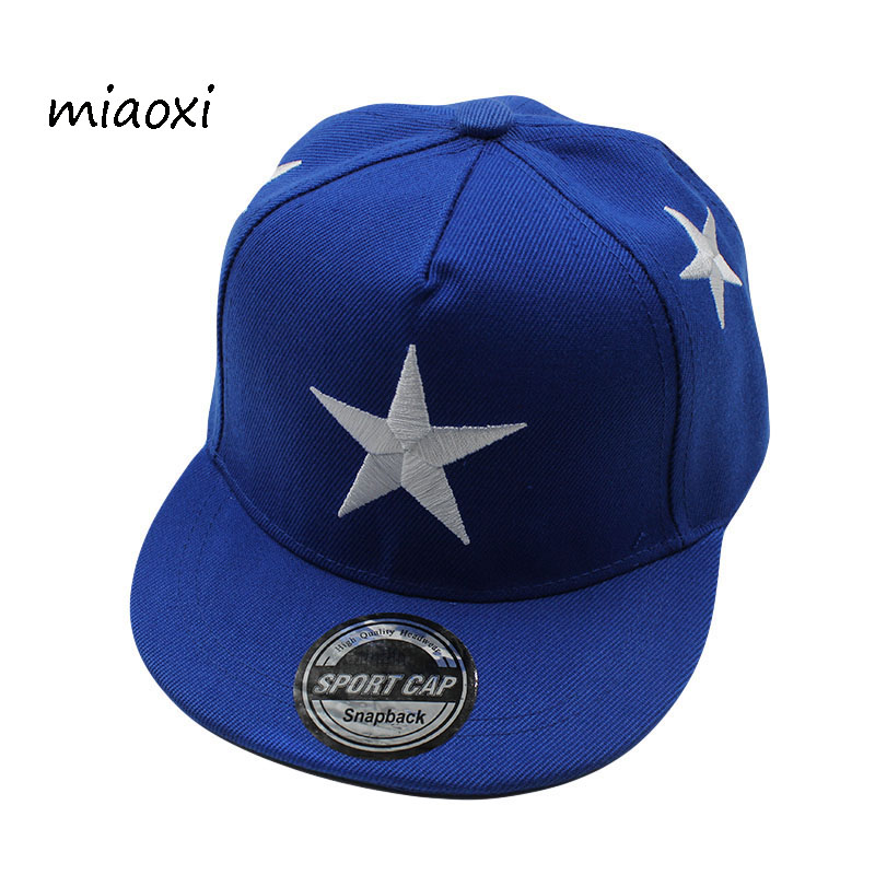 miaoxi Fashion Children Boy Cap Baseball Girls Summer Star Hats Sun Children Hip Hop Caps High Quality Snapback Gorras Bone new fashion floral adjustable women cowboy denim baseball cap jean summer hat female adult girls hip hop caps snapback bone hats