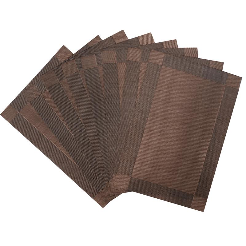 Set Of 8 Pvc Decorative Vinyl Placemats For Dining Table