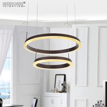 Moderne Anhänger Licht 2 Ringe LED Leuchte Leuchten Hanglamp Wohnzimmer  esszimmer Glanz Lamparas de techo Hängen Hause Beleuchtung