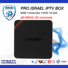 Top Israel IPTV T95N Android TV box 7.1 5000+LIVE IPTV Nordic Finland Norway Denmark Europe French UK Portugal  4K Smart TV BOX