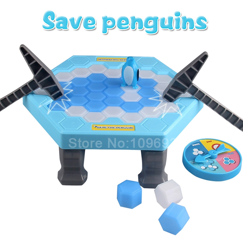 Rescue penguins ice breaker parent-child interaction party play children toys gifts Unisex ice play футболка