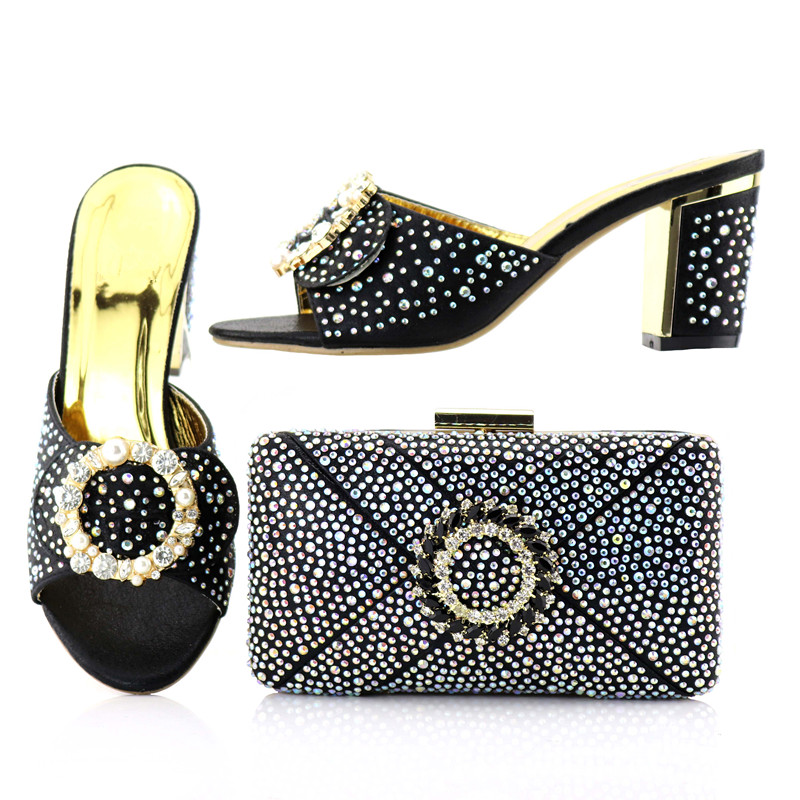 African high heel wholesale latest fashion ladies african style shoes match bag for party стоимость