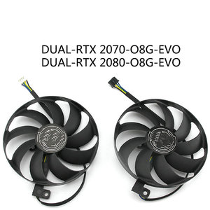 Оригинал для ASUS DUAL-RTX 2070 2080 графика видео Вентилятор охлаждения T129215SU DC2V 0.50A