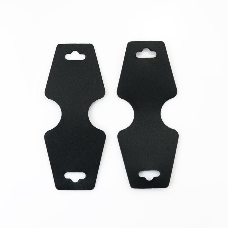 4.5x11cm Black Plastic Jewelry Display Packaging Card 200pcs/lot Jewelry/Necklace Display Cards Free Shipping