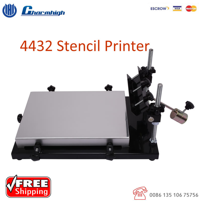 Free shipping Charmhigh 4432 Stencil Printer for SMT Production Line, Solder paste printer, Pick and Place Machine Best quality!