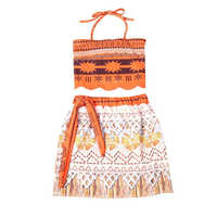 2018 New Baby Girl Clothes Moana Cartoon Bambini Festa Cosplay Moana Principessa Dresses 2 Pezzo Set Ragazza