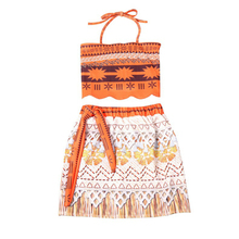 2018 New Baby Girl Clothes Moana Cartoon Kids Party Cosplay Princess Dresses 2 Piece Set