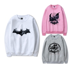 Printing  The Dark Knight Batman O-NECK Cool Cartoon Pattern Design Cotton Sweatshirts with Leisure Fashion Jumper