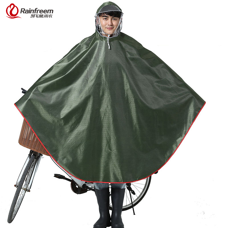 Rainfreem Impermeable Raincoat Women Men Thick Bicycle Rain Poncho