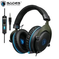 SADES R3 PS4 Gaming Headset Casque Over Ear Wired Bass Surround Stereo Headphones With Mic For