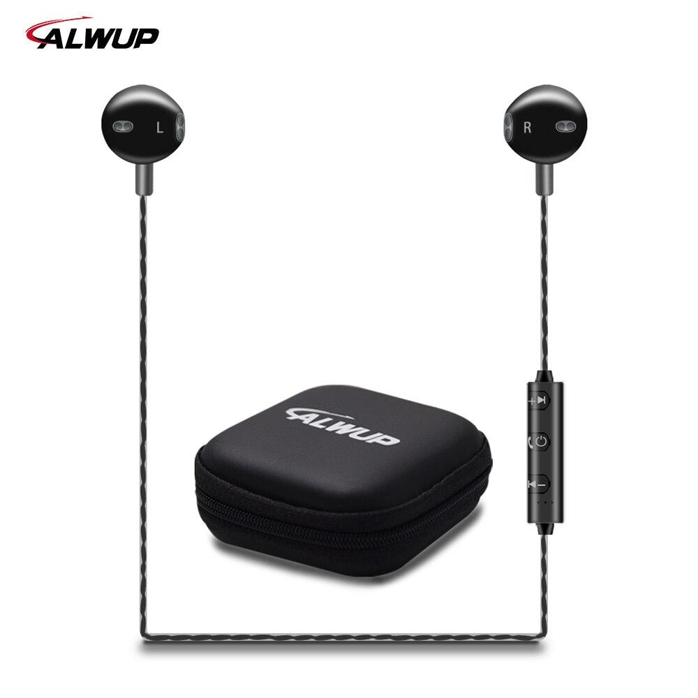 ALWUP Wireless Headphone Bluetooth Earphone HIFI Bass music Sport Running Neckband Headset with Microphone for iPhone Xiaomi