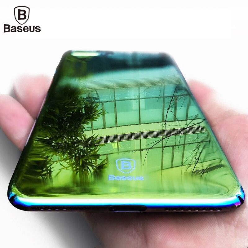 Baseus Marke Aurora Licht Telefonkasten Für iPhone 7 7 Plus Ultra klar Spiegel Plating Harte Coque Abdeckung Für Apple iPhone 7 Plus fall