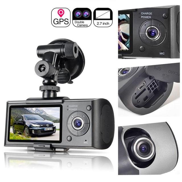 자동차 레코더 카메라 GPS 위치 운전 레코더 HD 2.7 인치 LCD 화면 자동차 DVR 카메라 미러 광각 렌즈 마이크