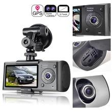 רכב מקליט מצלמה GPS מיצוב נהיגה מקליט HD 2.7 אינץ LCD מסך רכב DVR מצלמה מראה רחב זווית עדשה מיקרופון