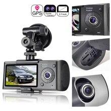 Автомобильный регистратор, камера с GPS позиционированием, видеорегистратор вождения, HD 2,7 дюймовый ЖК экран, Автомобильный видеорегистратор, камера, зеркало, широкоугольный объектив, микрофон