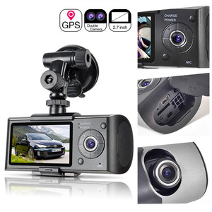 Image 1 - Kamera samochodowa pozycjonowanie GPS rejestrator jazdy HD 2.7 Cal ekran LCD kamera samochodowa lustro szerokokątny obiektyw mikrofon