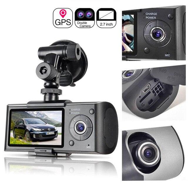 Kamera samochodowa pozycjonowanie GPS rejestrator jazdy HD 2.7 Cal ekran LCD kamera samochodowa lustro szerokokątny obiektyw mikrofon