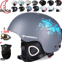 Free Shipping Authentic Ski Helmet Extreme Sports Protective Gear Veneer Double Plate Warm Wind Snow Helmets