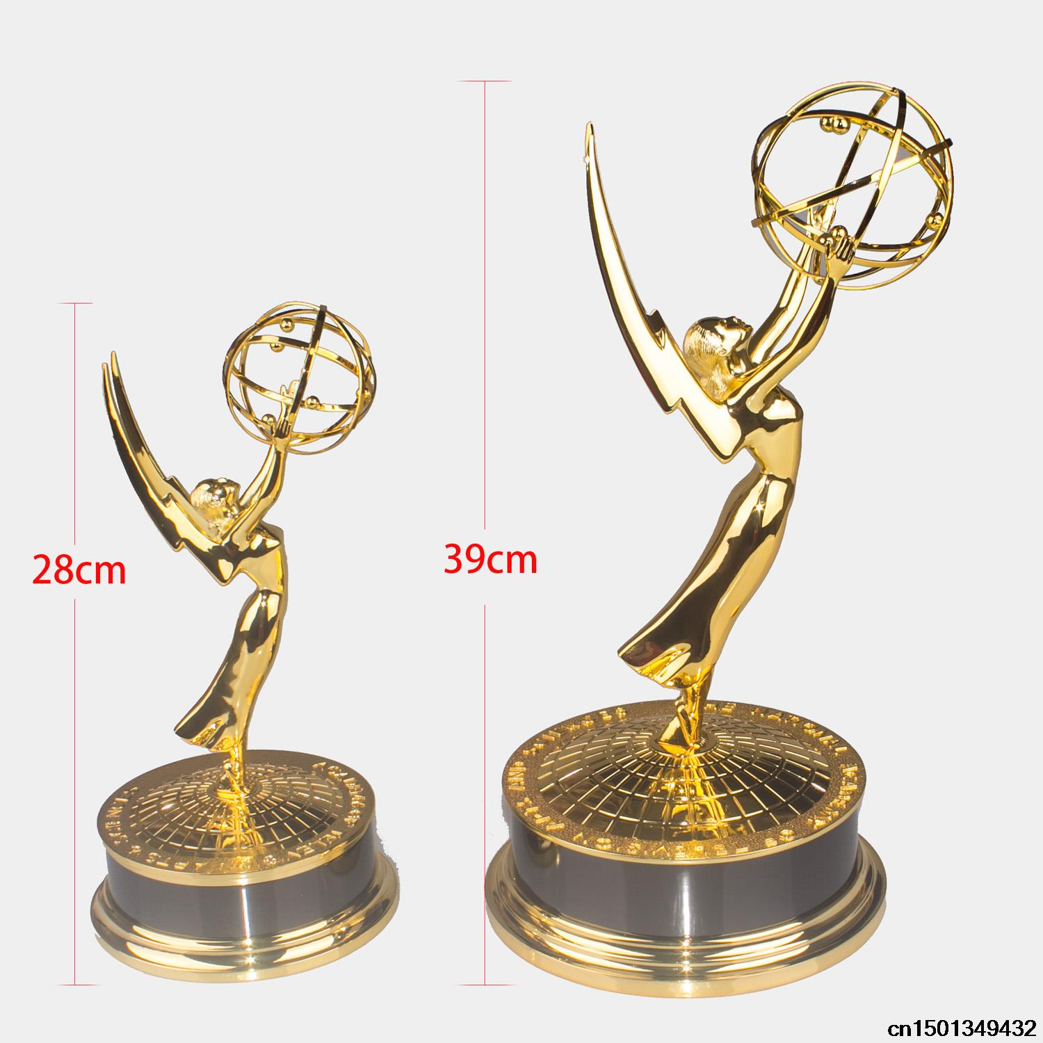 Emmy Awards Trophy Replica TV trophy / Metal Emmy Trophy 28cm Statuette Metal Replica Gold Zinc Alloy