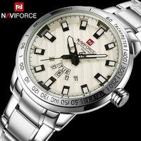 Men Quartz Watch NAVIFORCE Luxury Sport Watches Business Silver Steel Watch 30M Waterproof Calender Wristwatches Reloj
