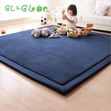 Новые плотные игровые коврики 2 см, коралловый флис, одеяло, ковер для детей, для ползания, татами, подушки, матрас для спальни