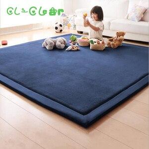 Image 1 - חדש 2CM עבה לשחק מחצלות פליז שמיכת שטיח ילדי תינוק זחילה מחצלות טאטאמי כרית מזרן לחדר שינה