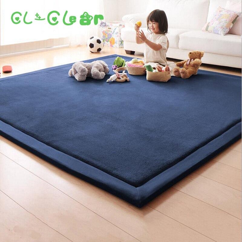 Nuevo 2 cm de espesor alfombrillas jugar Manta polar de coral alfombra niños bebé gateando tatami cojín colchón para dormitorio