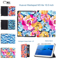 MTT Rose Petal Fashion Painted PU Leather Stand Cover Case For 2017 Huawei MediaPad M3 Lite