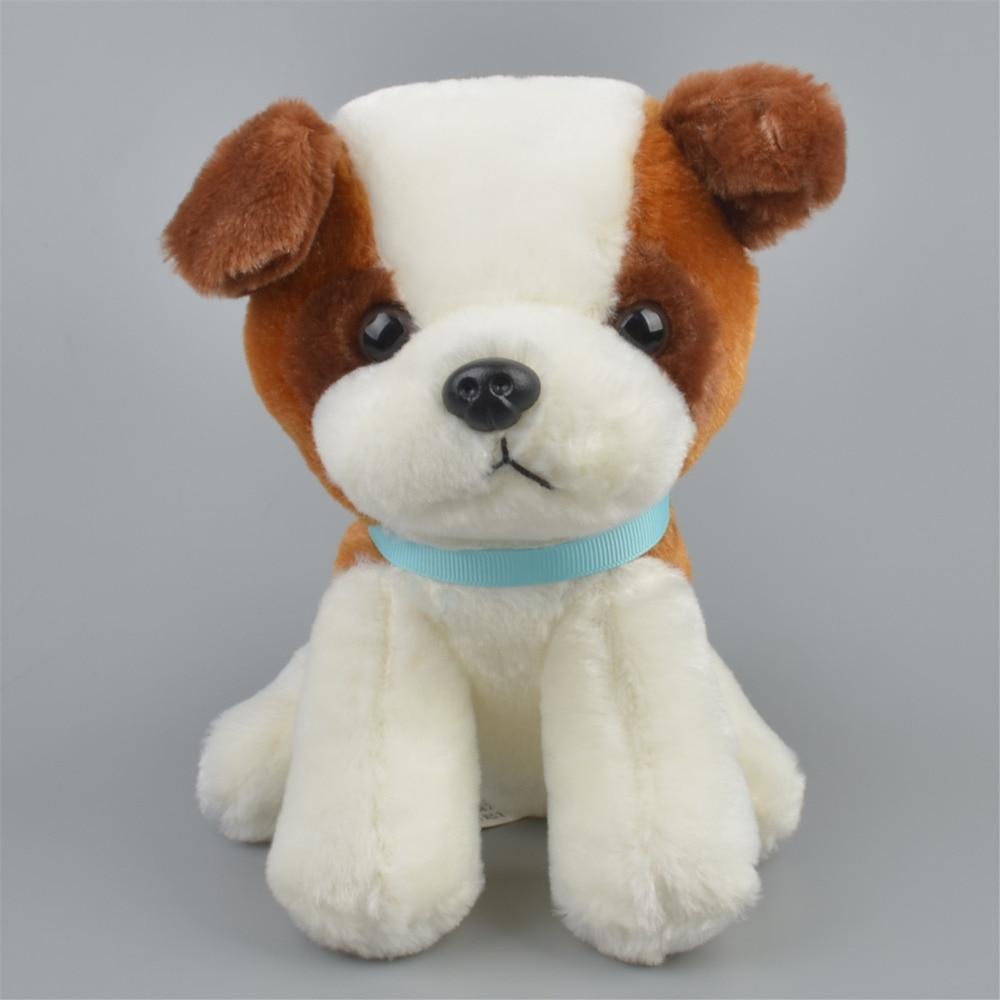 20 см сидя коричневый с белым Цвет щенок плюшевые куклы, детские дети милые собака игрушка в подарок Бесплатная доставка