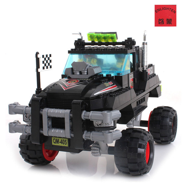 off-road racing vehicle Enlighten 405 230pcs building blocks 3D DIY assembling educational toys birthday gift Free Shipping