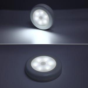 Image 2 - 3pcs 6 LED Night Light Wireless Detector Light Wall Lamp Infrared PIR Motion Sensor Light Cabinet Stair Closet Toilet WC Smart
