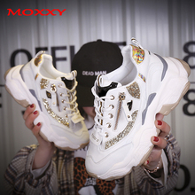2019 Autumn Ladies Glitter Chunky Sneakers Platform Casual Shoes Dad dames Sneakers Women Shoes Trainers basket chaussure femme