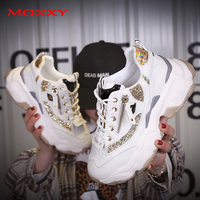2019 Autumn Ladies Glitter Chunky Sneakers Platform Casual Shoes dames Dad Sneakers Women Shoes Trainers basket chaussure femme