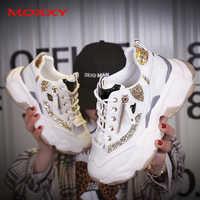 2019 automne dames paillettes grosses baskets plate-forme chaussures décontractées dames papa baskets femmes chaussures formateurs basket chaussure femme