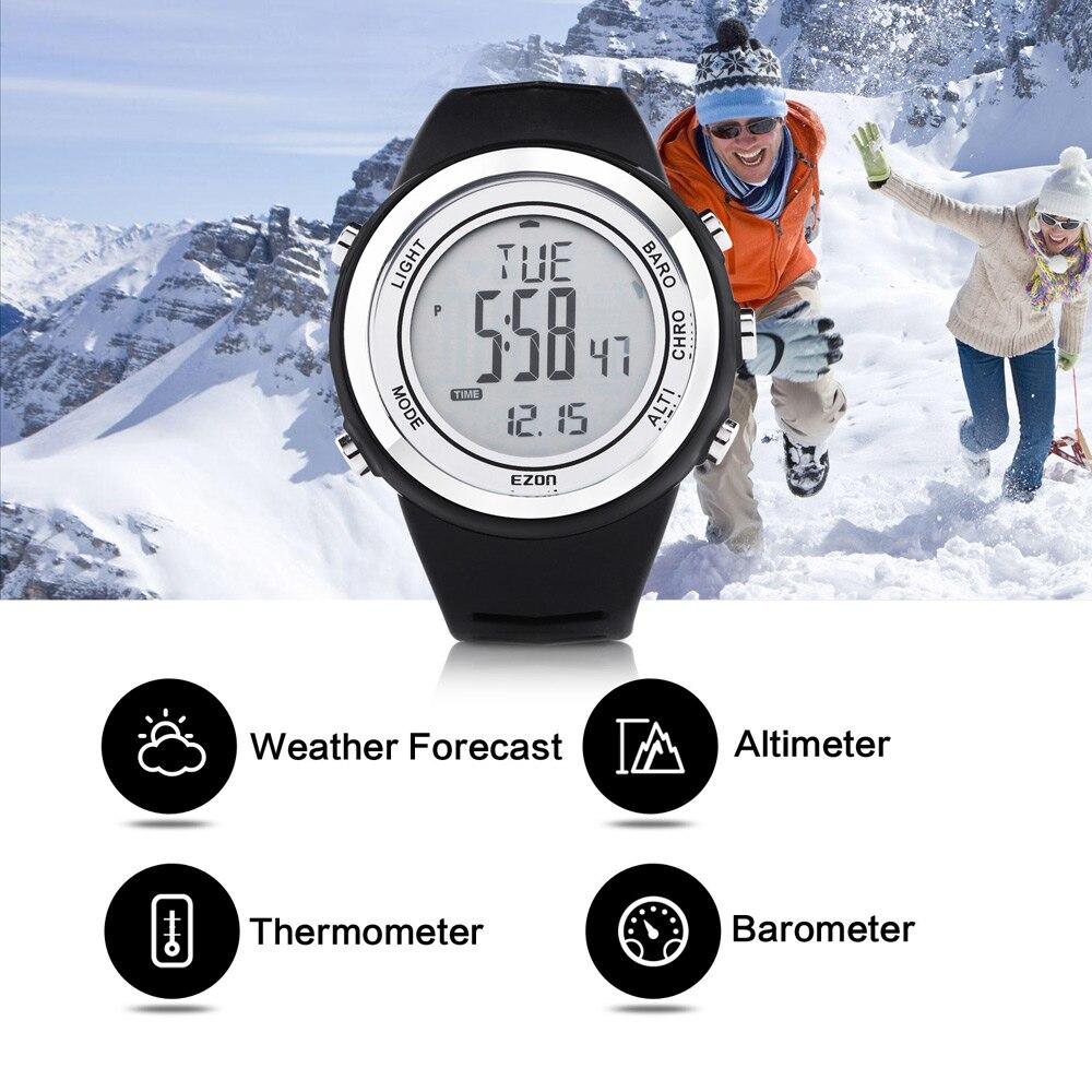Envío Gratis EZON H009A15 escalada al aire libre impermeable deportes reloj altímetro barómetro termómetro Hombre Deporte reloj Digital-in Relojes deportivos from Relojes de pulsera    1