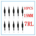 "10 x 7RL Disposable Tattoo Grips Tube with Needles Assorted Size 3/4"" (19mm) For Tattoo Gun Needles Ink Cups Grip Kits"