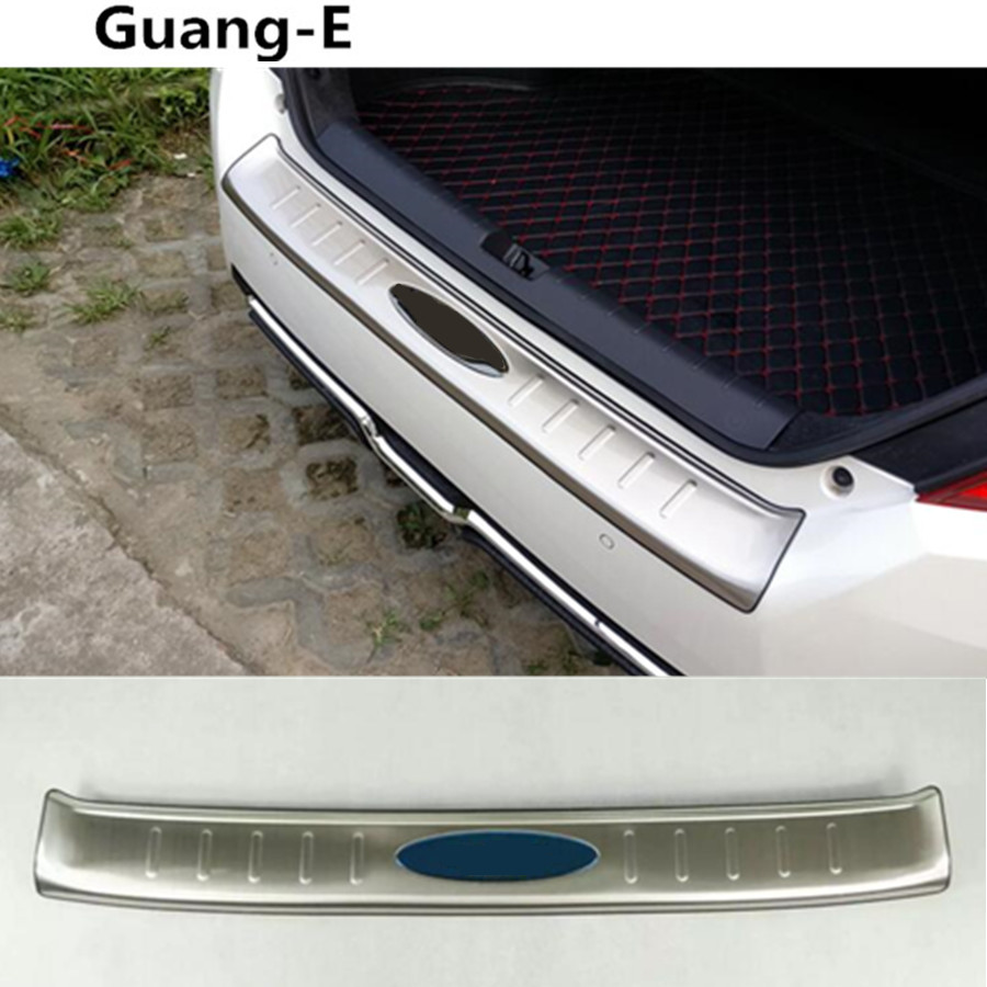 car styling Rear Bumper Trunk Threshold Door Sill Outer Protector Trim Stainless Steel For Honda civic 10th sedan 2016 2017 2018 hot car abs chrome carbon fiber rear door wing tail spoiler frame plate trim for honda civic 10th sedan 2016 2017 2018 1pcs