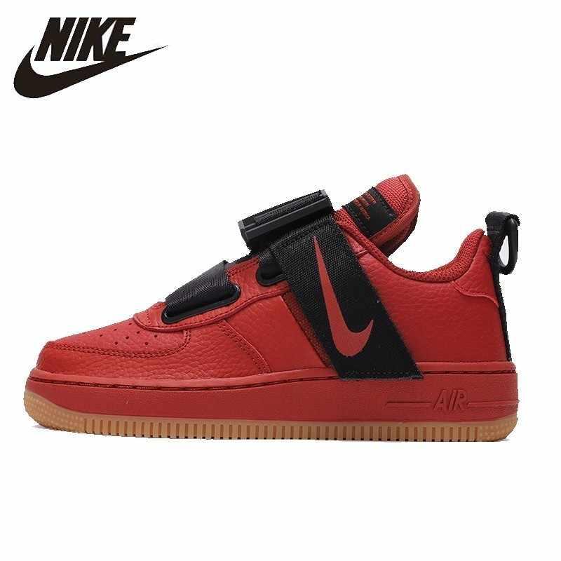 NIKE FORCE1 AF1 chaussures de skateboard femmes originales coussin d'air confortable Absorbant les chocs baskets # AJ6601-600