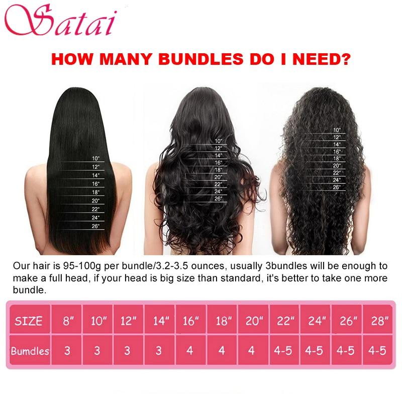 Satai Brazilian Body Wave Hair Extension 1 Piece Remy Human Hair - Mänskligt hår (svart) - Foto 5