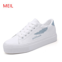 Women Sneakers Ladies Casual White Platform Flat Shoes Student Flats Zapatos Mujer