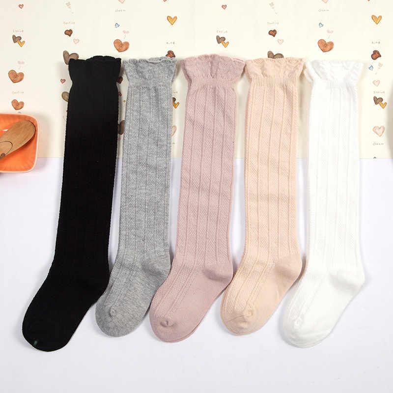 ลายน่ารักถุงเท้าโบว์ตรงถุงเท้าเด็กสูงหลอดเด็กเข่าถุงน่องถุงเท้าเด็กถุงเท้า (มี 5 คู่)