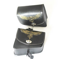 Motorcycle Saddle Bags PU Leather SaddleBag Side Bag For Harley Cruiser Cafe Racer Bobber