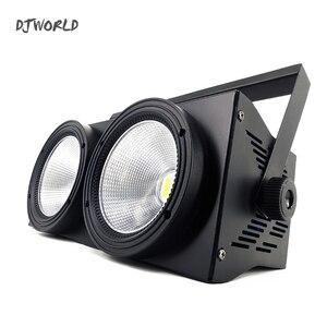 Image 2 - 2 مصابيح LED للسيارات على شكل عيون 200 واط COB مصباح موازي المستوى RGBWA + UV 6in1 DMX 512 الإضاءة لمقعد مسرح مسرح كبير المهنية