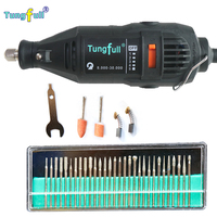 DREMEL Electric Angle Grinder 100 N 7 Potray 5 Gears Power Tool Kit 220V 30pcs Grinding