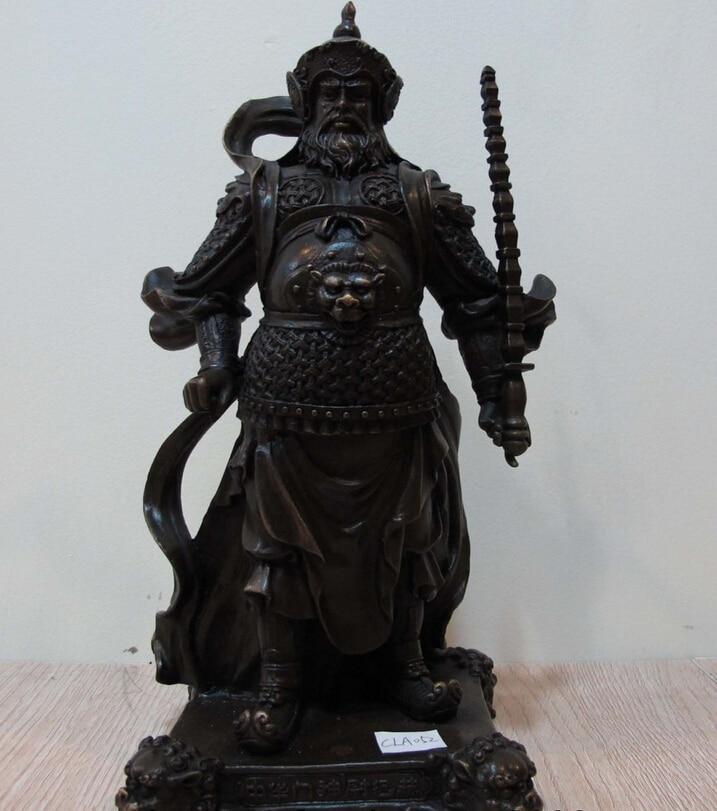 150401 S0569 China Door God Copper Bronze Feng Shui Weichigong Warrior Buddha Guardian Statue150401 S0569 China Door God Copper Bronze Feng Shui Weichigong Warrior Buddha Guardian Statue